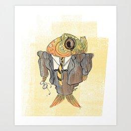 Boss Fish Art Print