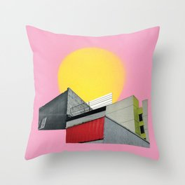 Neon Roof Top Throw Pillow
