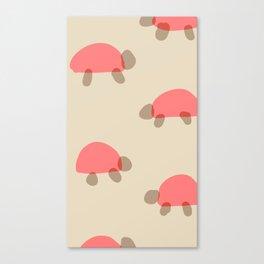 Turtle crossing Canvas Print