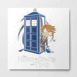 hero space time Metal Print