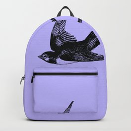 Swallow on Blue Backpack
