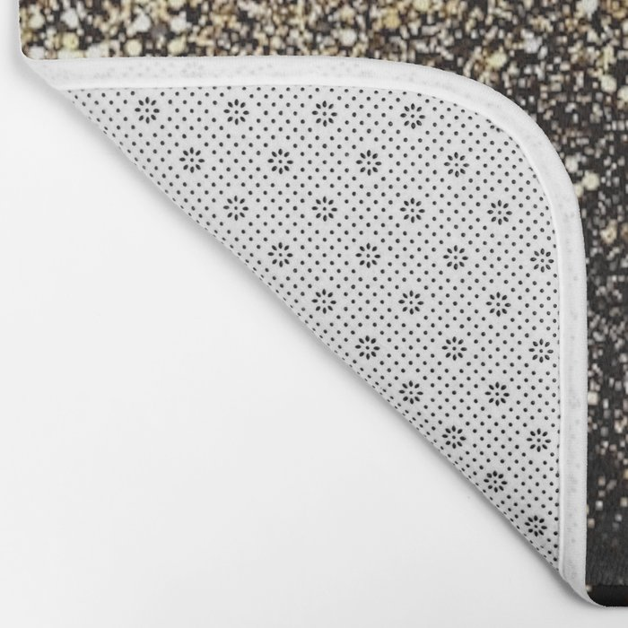 Black & Gold Sparkle Bath Mat