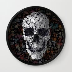 Doodle Skull Wall Clock