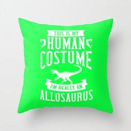Allosaurus Costume Gift Dinosaur Skull Throw Pillow