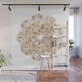 Mandala Multi Metallic in Gold Silver Bronze Copper Wall Mural