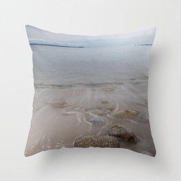 Queenslands Beach Throw Pillow