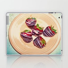 Retro-Sweet Sin ~ Chocolate-Covered Strawberries Laptop & iPad Skin
