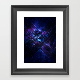 Cosmic Interference Framed Art Print