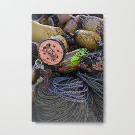 Buoys in Color Metal Print