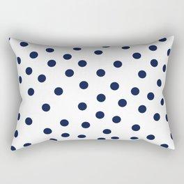 Simply Dots in Nautical Navy Rectangular Pillow