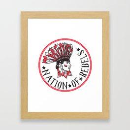 Nation of Rebels Framed Art Print