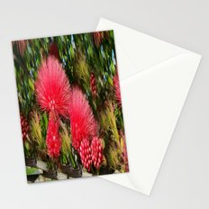 Wild fluffy red flowers Stationery Cards