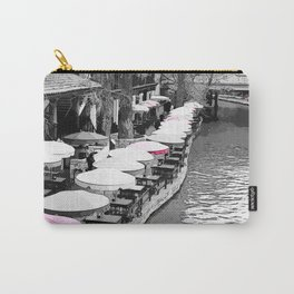 A Lovely Brunch By The River Pink Carry-All Pouch