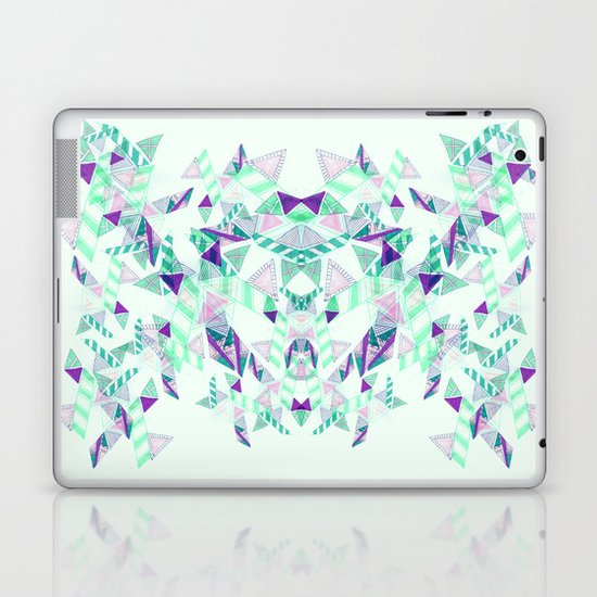 Kaleidoscopic print illustration  Laptop & iPad Skin