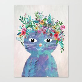 Flower cat II Canvas Print