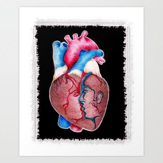 1 HEART 4 2 Art Print