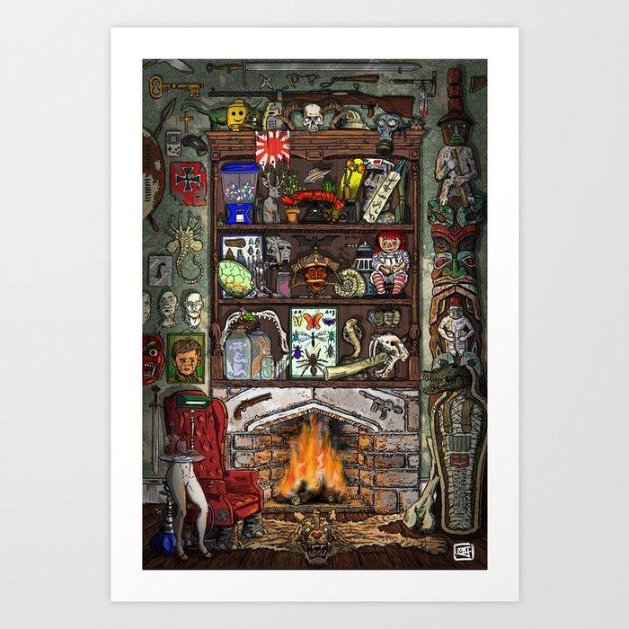 Creepy Cabinet of Curiosities Kunstdrucke