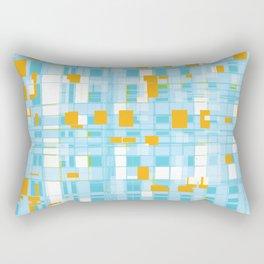 Popping Squares (blue) Rectangular Pillow