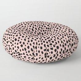 Pink and Black Dalmatian Spots (black/pink) Floor Pillow
