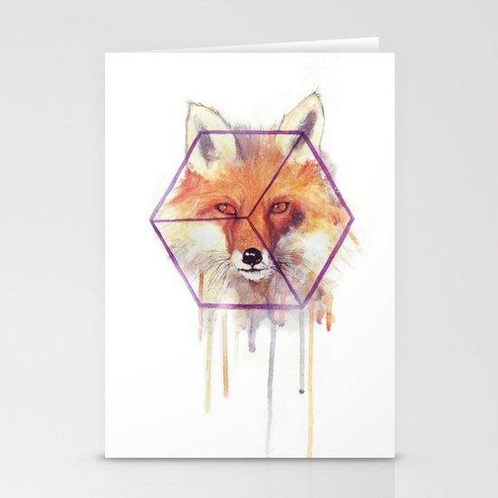 Bonjour Fox!! Stationery Cards
