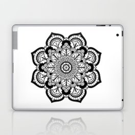 Black and White Flower Laptop & iPad Skin