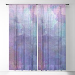 blue opal gemstone Sheer Curtain