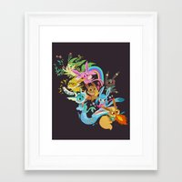 eevee Framed Art Prints featuring Eevee Band by tinysnails