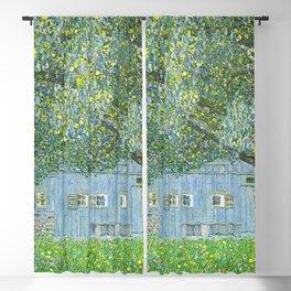 Klimt - Farmhouse in Upper Austria (new editing) Blackout Curtain