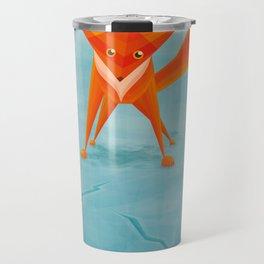 Fox on ice Travel Mug