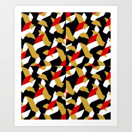 Colorful Abstract Pattern Art Print