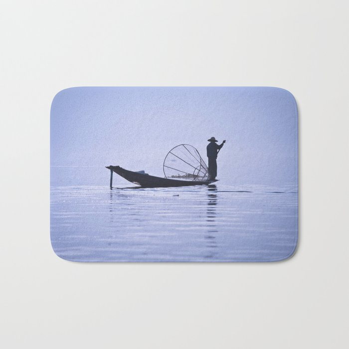 FISHERMAN AT INLE LAKE II Bath Mat