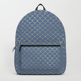 Elegant Gold Scales Pattern Backpack