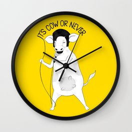 Cow singing Elvis Presley | Animal Karaoke | Illustration Wall Clock