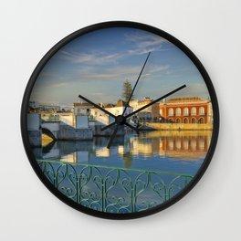 Tavira the 'Roman Bridge', Portugal Wall Clock