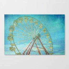 Ferris Wheel I carnival, creamy, carnival print, nursery print, home decor, carnival decor, Canvas Print