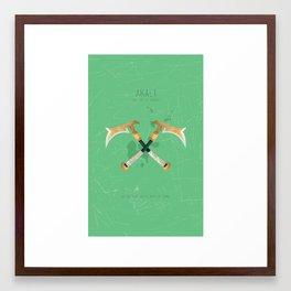 League of Legends: Akali Framed Art Print