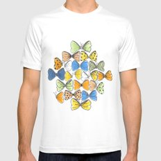 More Bows & Butterflies MEDIUM Mens Fitted Tee White