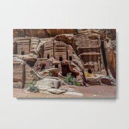 Petra, Jordan Desert Nabatean Ancient City Ruins Metal Print