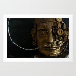 Dalì portrait - Sculpture Art Print
