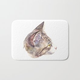 The cat with yellow eyes Bath Mat