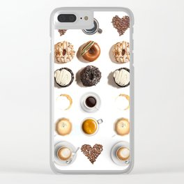Coffee & Donuts Clear iPhone Case