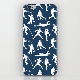 Baseball Players // Navy iPhone Skin