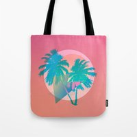 hotline miami Tote Bags featuring MIAMI by DIVIDUS