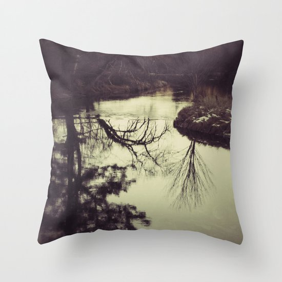 Liquid Curves Throw Pillow