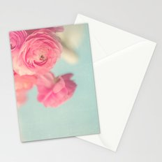 Cotton Candy, Pink Ranunculus Stationery Cards