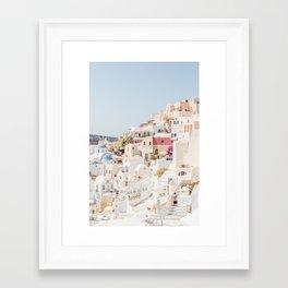 Pastel Oia Framed Art Print