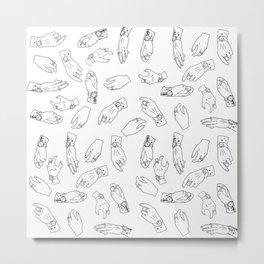 Hand Print II Metal Print