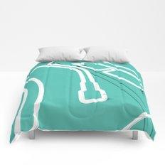 Neon Turntable 3 - 3D Art Comforters