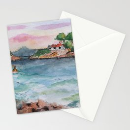 Croatian sunset Stationery Cards