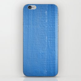 Timber wood blue plank iPhone Skin